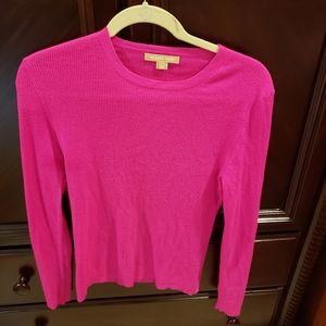Michael kors womens m pink light weight cashmere